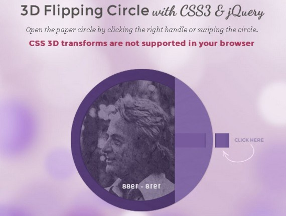 3D Flipping Circle with CSS3 & jQuery