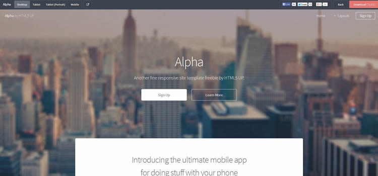 Alpha web template
