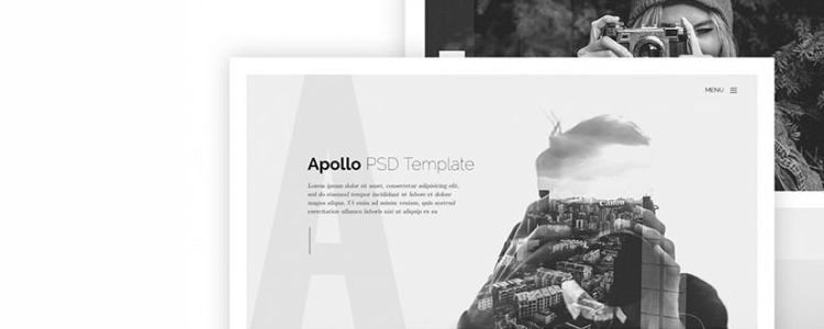 Apollo one-page web template