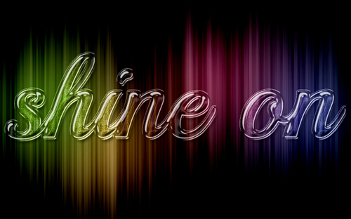 Colorful Sparkling Glass Text Effect in Photoshop Tutorial
