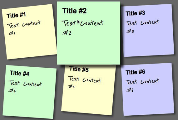 Create a Sticky Note Effect with CSS3 HTML5