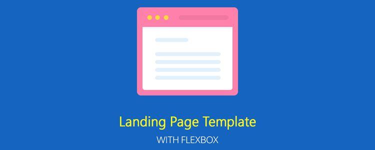 Flexbox Responsive Landing Page
