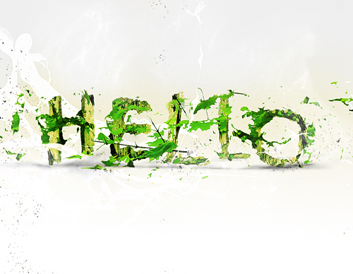 Leafy Text Effect in Photoshop Tutorial