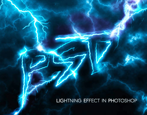 Lighting Text Effect in Photoshop Tutorial