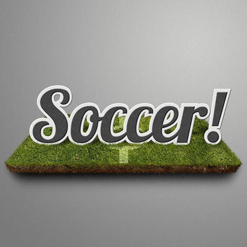 Soccer-Themed Text Effect in Photoshop Tutorial