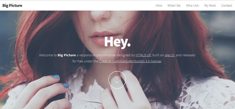 free single-page portfolio web template