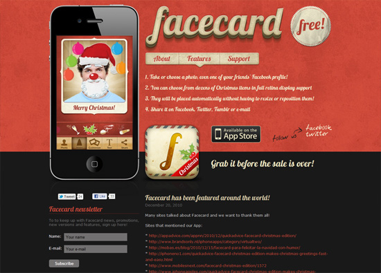 Facecard iPhone App