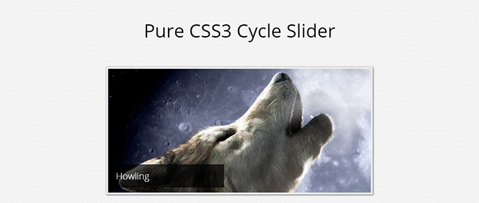 Pure CSS3 Cycling Slideshow