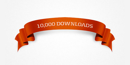 10k downloads ribbon