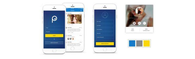 Social mobile app UI