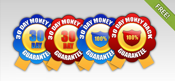 30 Day Money Back Guarantee Badges