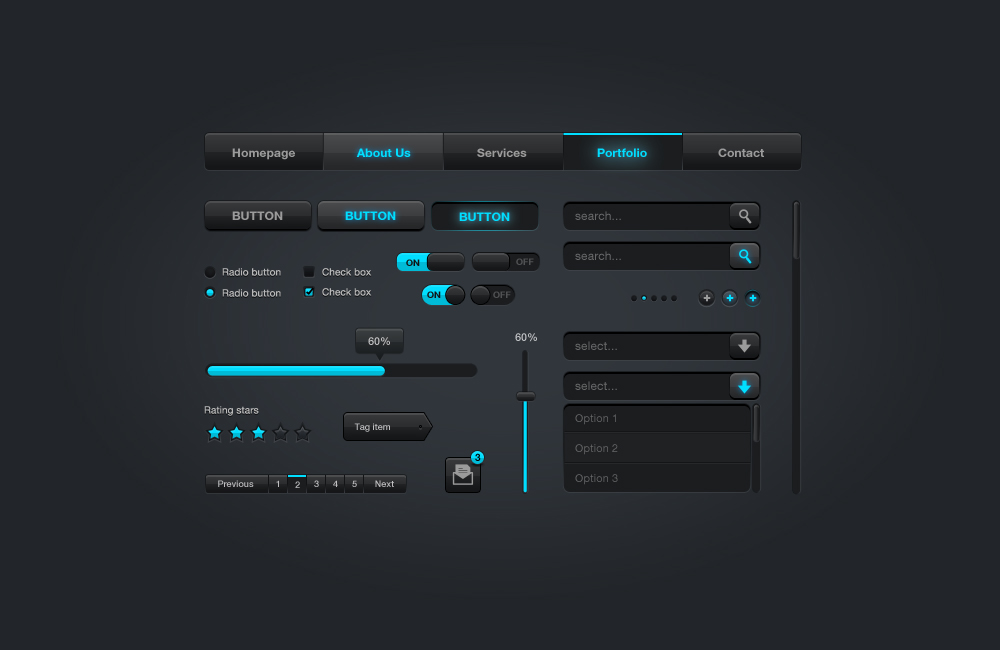 100+ Free PSD Web UI Elements For Download