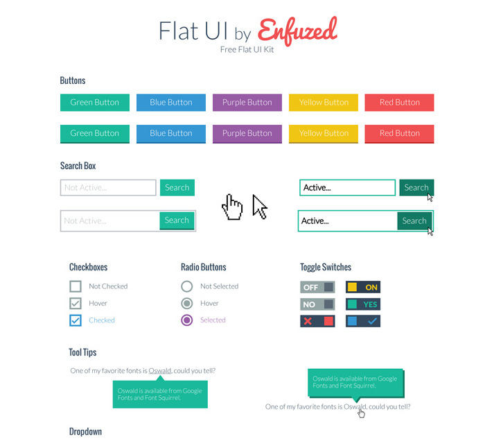 Enfuzed Flat design template