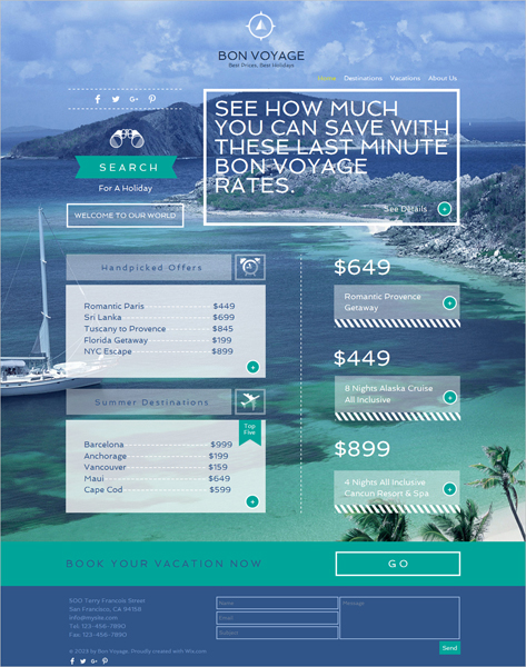 Free Travel Agency HTML5