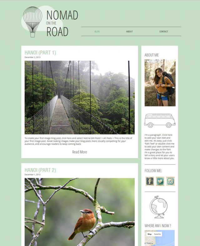 Free Travel Blog HTML5 Read more at: http://www.beautifullife.info/web-design/15-best-free-travel-templates