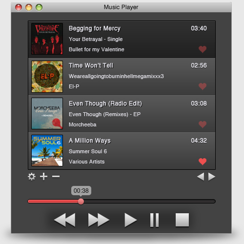 Freebie: Music Player UI