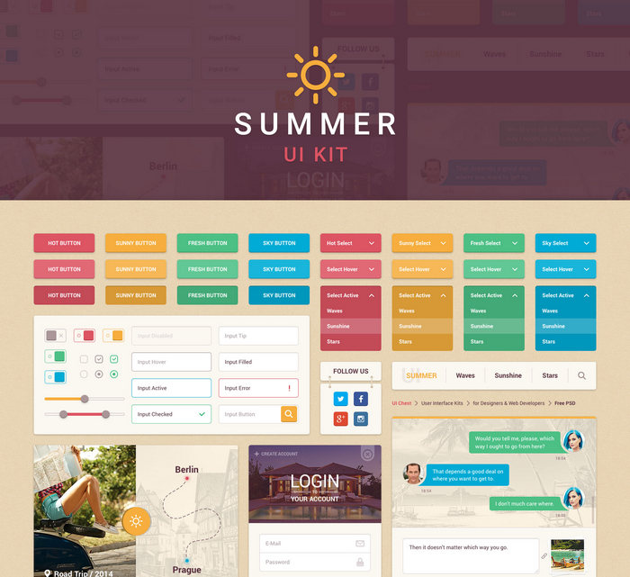 summer ui kit free