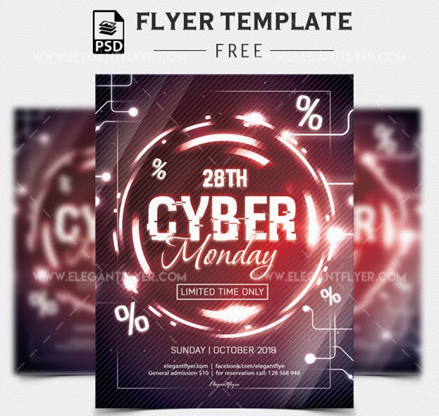 Cyber Monday – Free Flyer PSD Template
