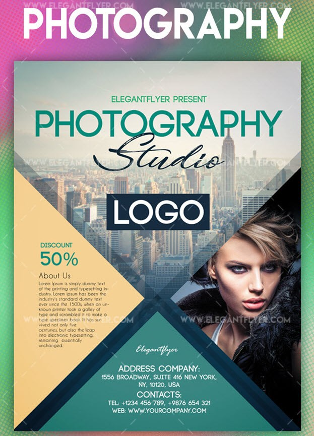 Photography – Flyer PSD Template + Instagram template