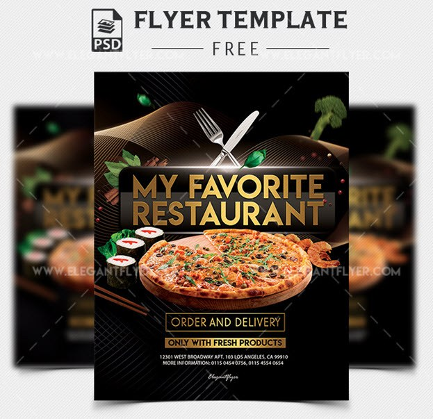 My Favorite Restaurant – Free PSD Flyer Template