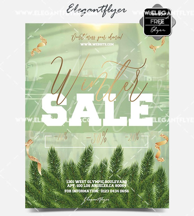 Winter Sale – Free PSD Flyer Template