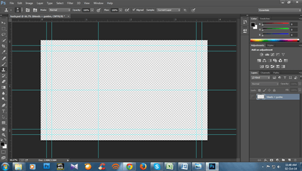 creating a print ready business card