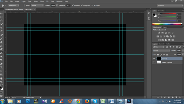 Creating a background in photoshop