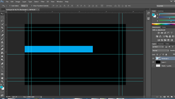 adding a footer in photoshop